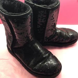 Black sequin Australia sheepskin ugg  boots 8